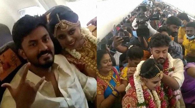 Se celebra boda con 170 invitados en un avión