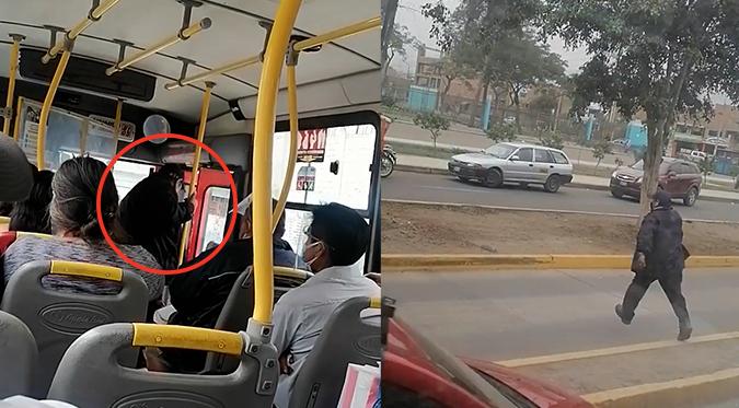 Chofer abandona su bus con pasajeros para ir a votar | VIDEO