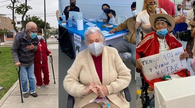 Adultos mayores acudieron a emitir su voto en esta segunda vuelta electoral