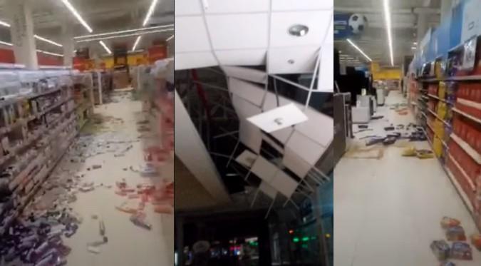 Temblor causó destrozos en centros comerciales y Aeropuerto Jorge Chávez   VIDEO
