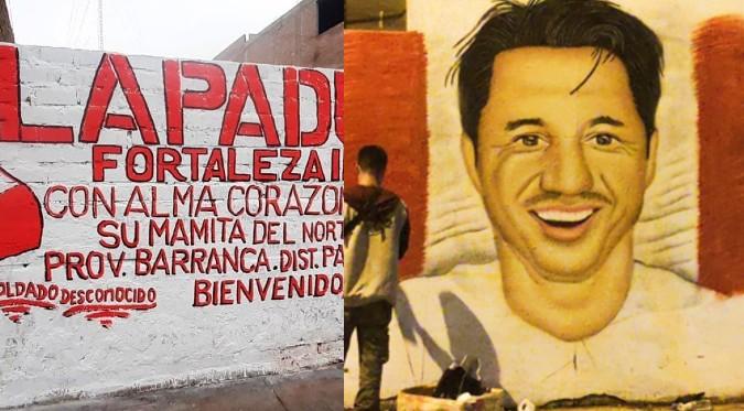 Gianluca Lapadula es dibujado en murales por hinchas peruanos   FOTOS