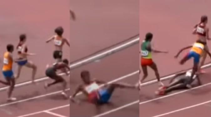 Tokio 2020: deportista se cae y gana la carrera de 1500 metros en los Juegos Olímpicos | VIDEO
