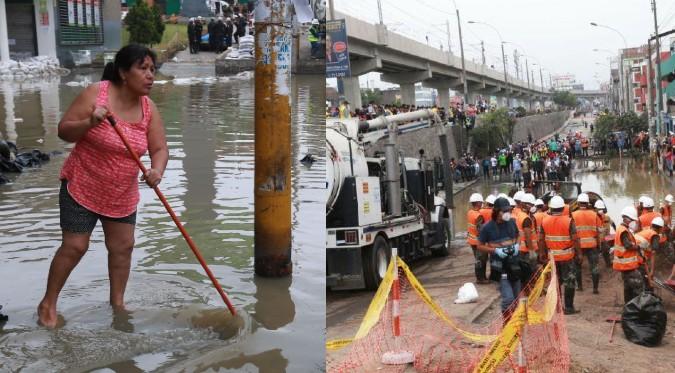 """San Juan de Lurigancho sería declarado en """"Emergencia"""" por nuevos aniegos"""
