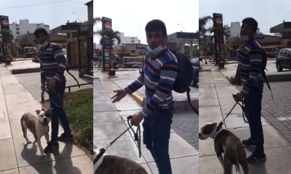 Periodista Jaime Chincha fue atacado por un pitbull en plena vía pública | VIDEOS